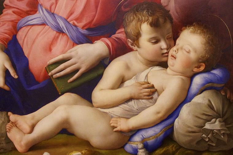 "Agnolo Bronzino [1503-1572], ""The Holy Family and St. John the Baptist"""