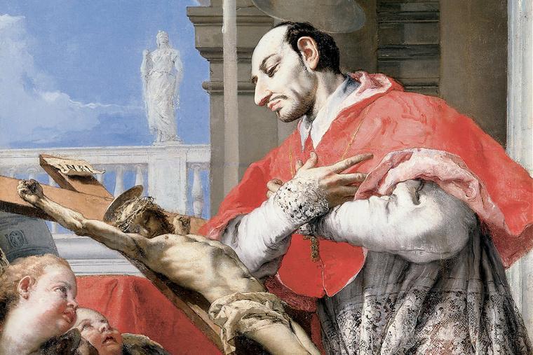"""Giovanni Battista Tiepolo, """"Saint Charles Borromeo,"""" c. 1768"""