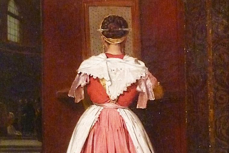 """Guillaume Bodinier, """"Paysanne de Frascati au confessional,"""" 1826"""
