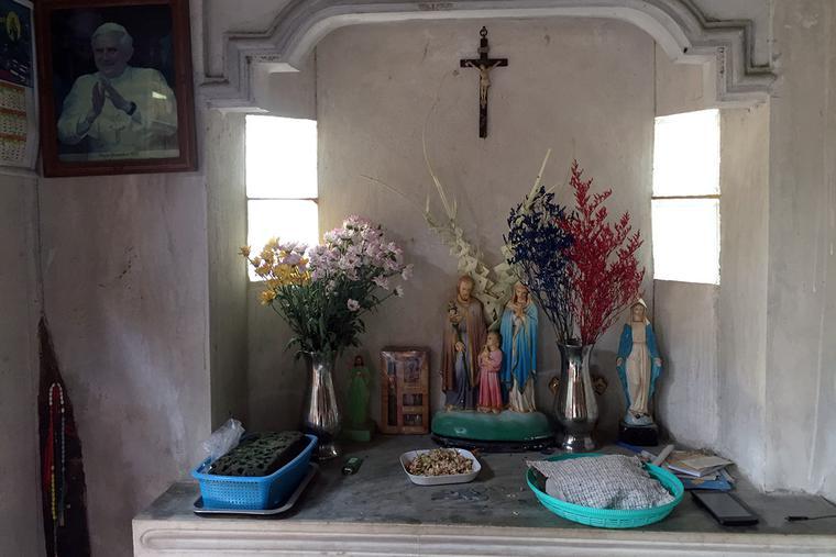 A family altar in Burma