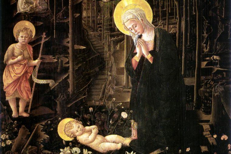 "Fra Filippo Lippi, ""The Nativity"" (Medici Chapel copy)"