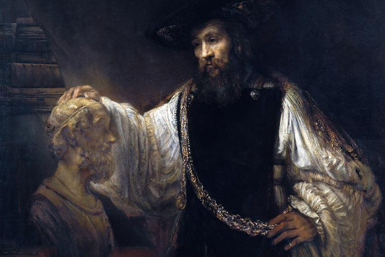"""Rembrandt, """"Aristotle With a Bust of Homer,"""" 1653"""