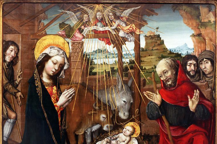 """Jacquelin de Montluçon, """"The Adoration of the Child,"""" c. 1496"""