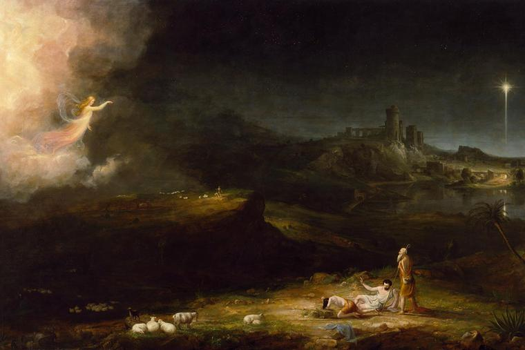 """Thomas Cole, """"The Angel Appearing to the Shepherds,"""" 1834"""