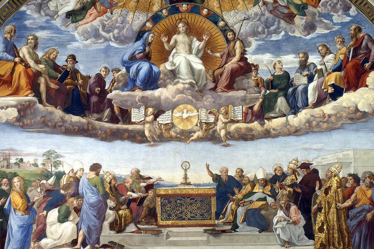 "Raphael, ""Disputation of the Holy Sacrament,"" c. 1510"