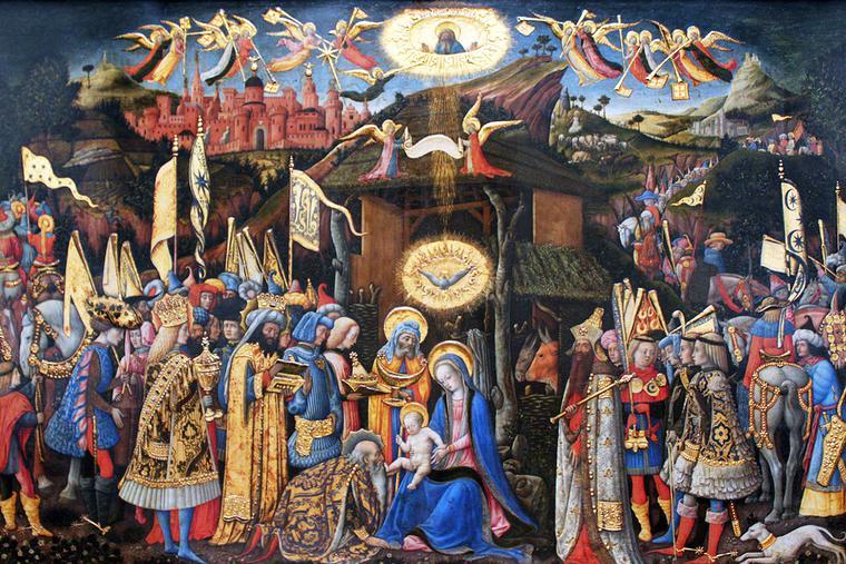 "Antonio Vivarini, ""Adoration of the Magi,"" c. 1446"