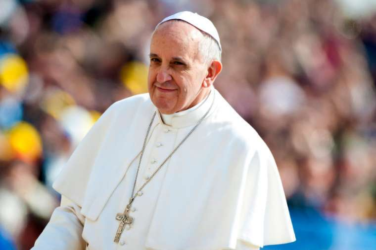 Pope Francis, pictured April 17, 2013.