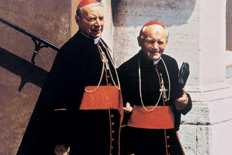 Cardinal Stefan Wyszyński with Cardinal Karol Wojtyła, the future St. John Paul II.