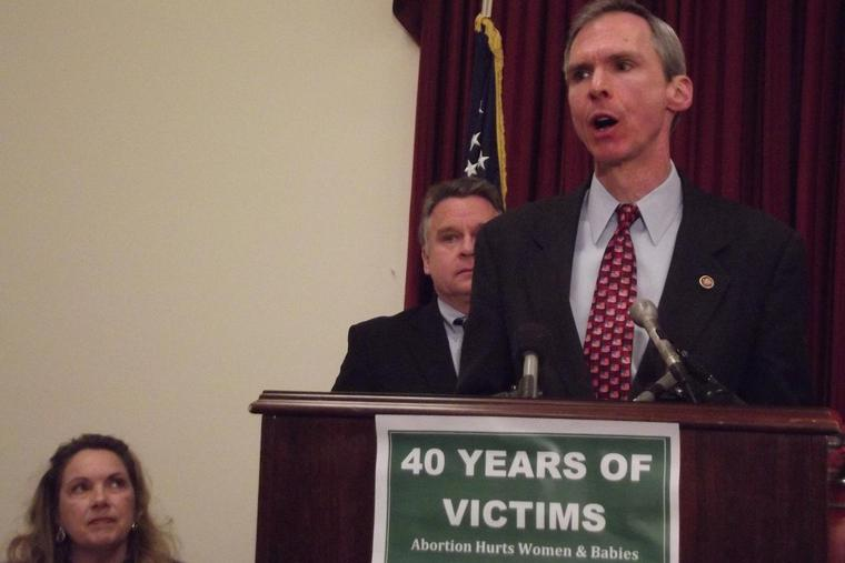 Rep. Dan Lipinski (D-Ill.) speaks at a press conference on the 40th anniversary of Roe v. Wade on Capitol Hill.