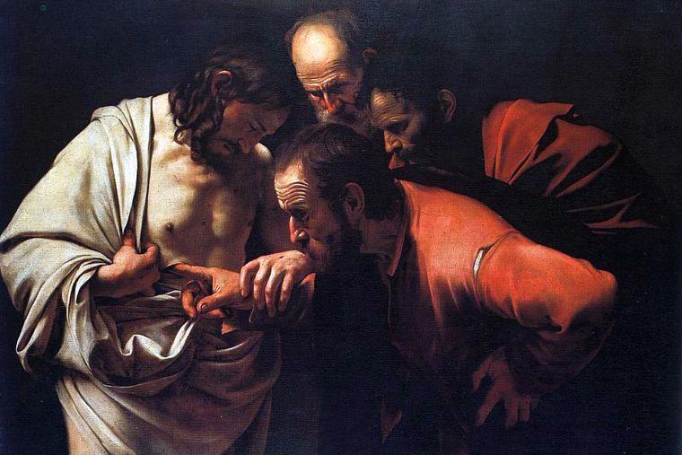 "Caravaggio, ""The Incredulity of St. Thomas,"" c. 1601"