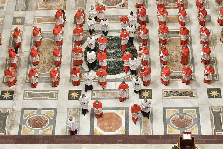 Consistory for the creation of new cardinals in St. Peter's Basilica Nov. 28, 2020.