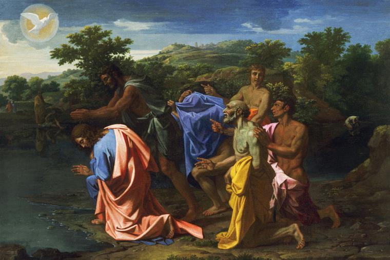 "Nicolas Poussin, ""The Baptism of Christ,"" c. 1658"