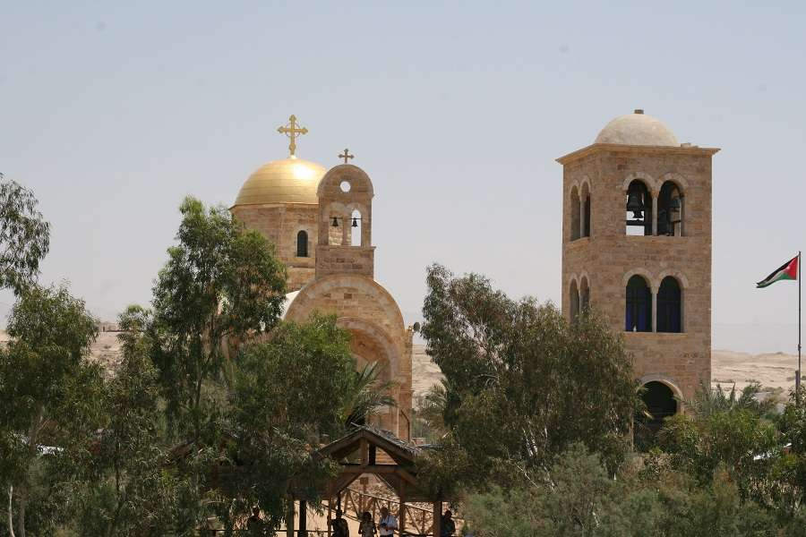 St. John the Baptist Greek Orthodox monastery on the Jordan River in the West Bank.