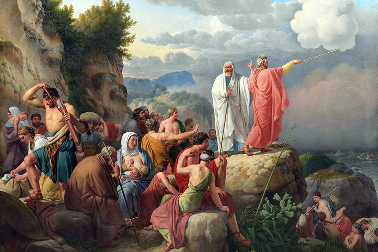 "Christoffer Wilhelm Eckersberg, ""The Israelites Resting after the Crossing of the Red Sea,"" 1815"