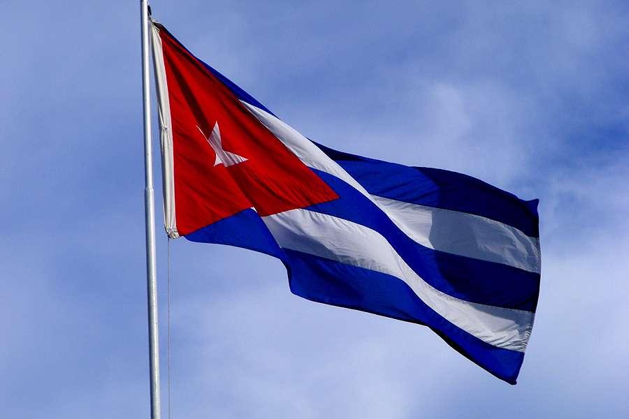 The flag of Cuba.