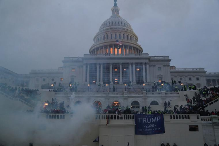 Protesters storm the U.S. Capitol building Jan. 6, 2021