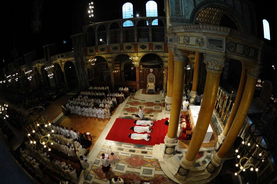 Msgr. Keith Newton is ordained as a Catholic priest at Westminster Cathedral, London, England, Jan. 15, 2011.