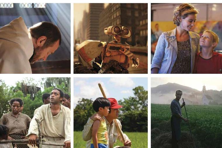 Clockwise from top left: 'Of Gods and Men,' 'Wall-E,' 'The Kid With a Bike,' 'A Hidden Life,' 'Minari' and '12 Years a Slave' are among the memorable films of the last two decades, according to the Register's film critic.