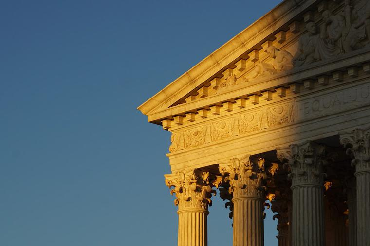 United States Supreme Court at dawn.