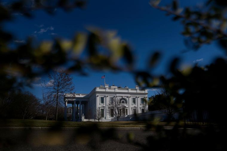 The White House is seen on January 19, 2021 in Washington, DC. According to reports, President Donald Trump is considering numerous pardons on last full day in office. President-elect Joe Biden will be sworn in as the 46th President on January 20.