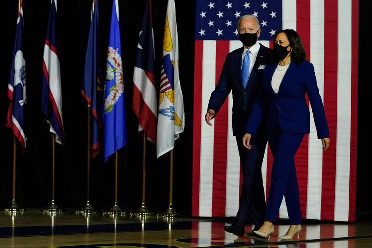 President Joe Biden and Vice-President Kamala Harris on the 2020 campaign trail.