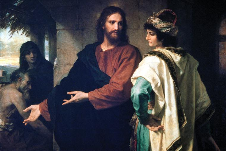 """Heinrich Hofmann, """"Christ and the Rich Young Ruler,"""" 1889"""