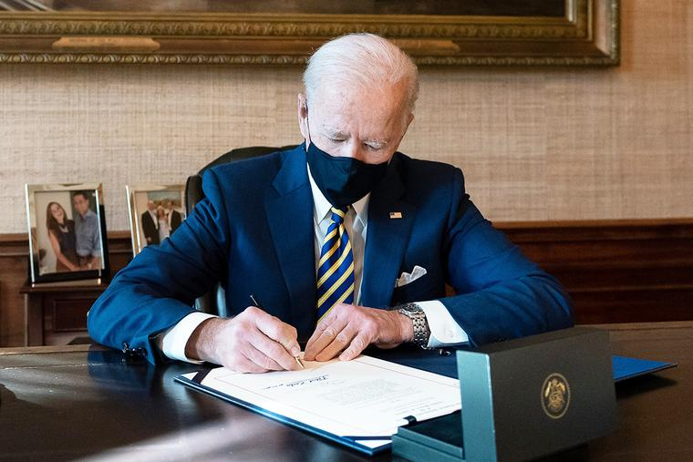 President Joe Biden on Jan. 22.