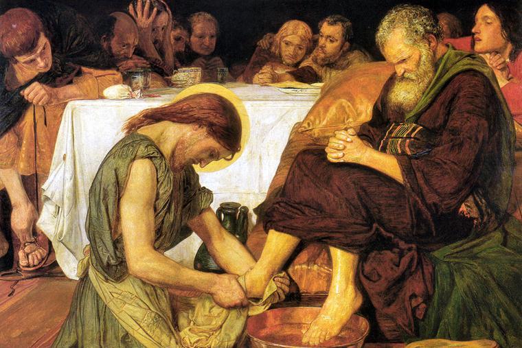 "Ford Madox Brown, ""Jesus Washing Peter's Feet,"" 1852-1856"