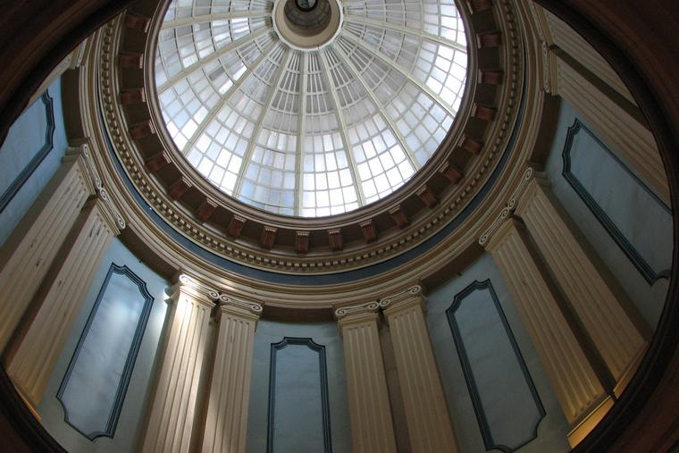 Inside view of South Carolina State House dome.