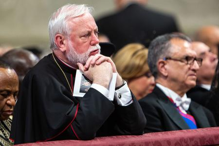 Archbishop Paul Richard Gallagher, Secretary for Relations with States within the Holy See's Secretariat of State during the Solemnity of Saints Peter and Paul in St. Peter's Basilica in Vatican City, June 29, 2019.