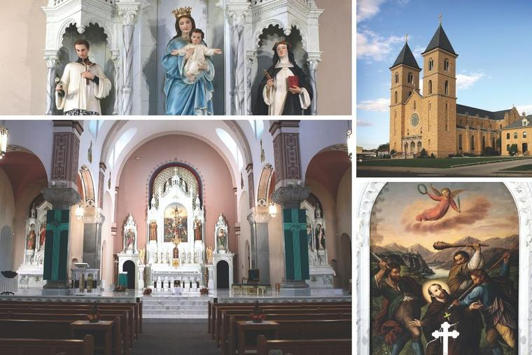 The Basilica of St. Fidelis was declared a minor basilica in 2014, becoming the first and only basilica in Kansas.
