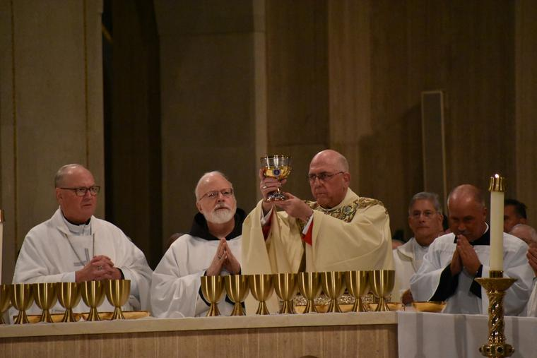 Archbishop Joseph F. Naumann of Kansas City, Kansas, Chairman of the USCCB Committee on Pro-Life, gives the homily during the Mass for Life at the Basilica of the National Shrine of the Immaculate Conception on Jan. 23, 2020.