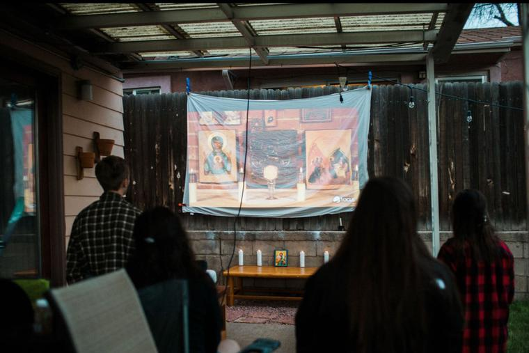 Socially distanced Fellowship of Catholic University Students events, including adoration, have been bringing college students together over the past year. This week a virtual FOCUS conference will bring more events, including faith-focused talks, to more people.