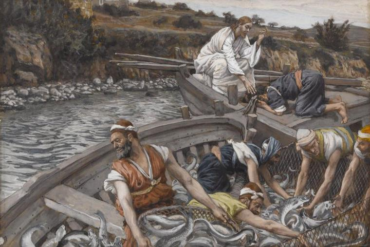 """James Tissot, """"The Miraculous Draft of Fishes,"""" 1886-1894"""