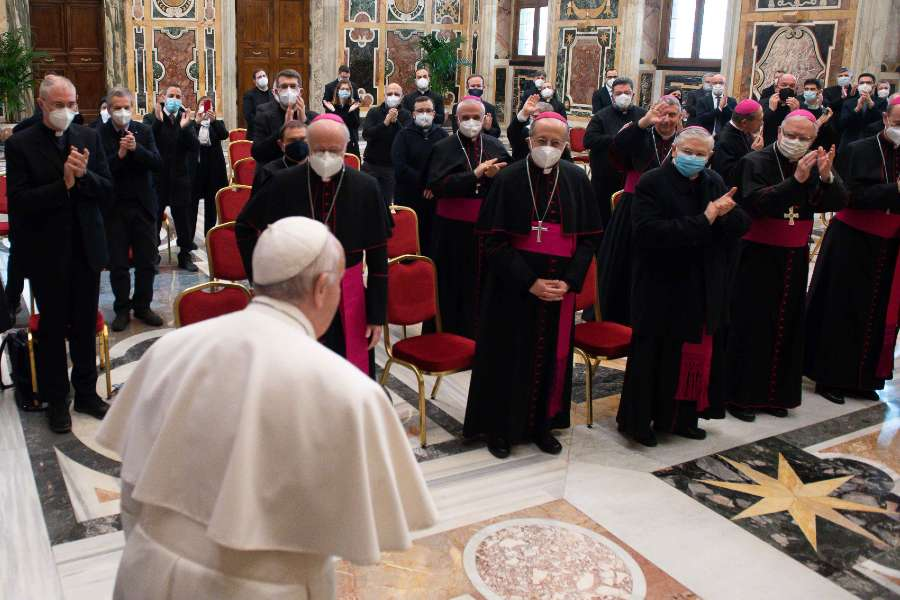 Pope Francis receives an audience with the National Catechetical Office of the Italian bishops' conference.