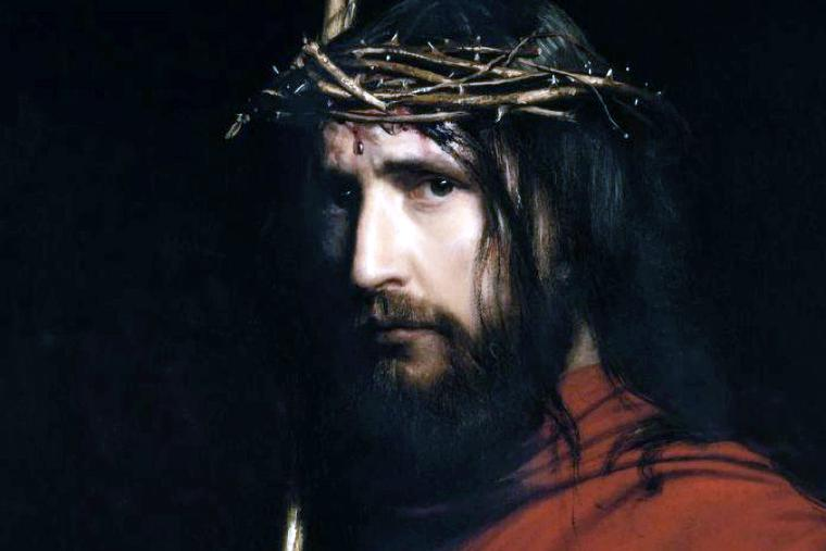 """Carl Heinrich Bloch (1834-1890), """"Christ With the Crown of Thorns"""""""