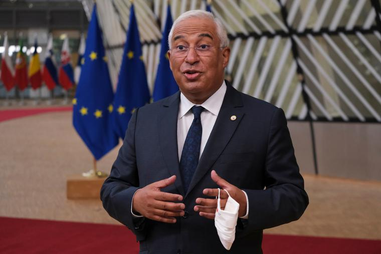 Prime Minister of Portugal, Antonio Costa arrives to attend the European Union leaders summit in Brussels, Belgium July 17, 2020.