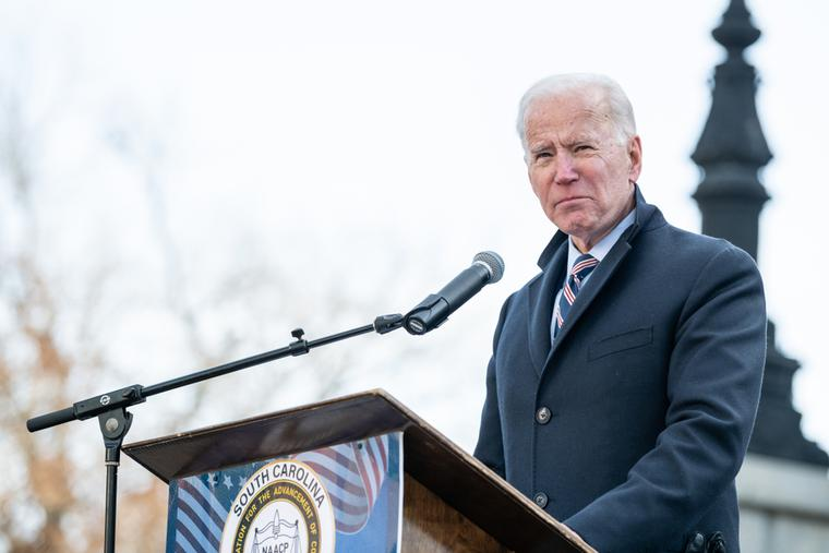 President Joe Biden in Charleston, S.C. on the campaign trail during the 2020 elections.