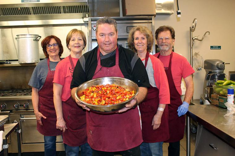 Chef Michael Fusco and his kitchen crew