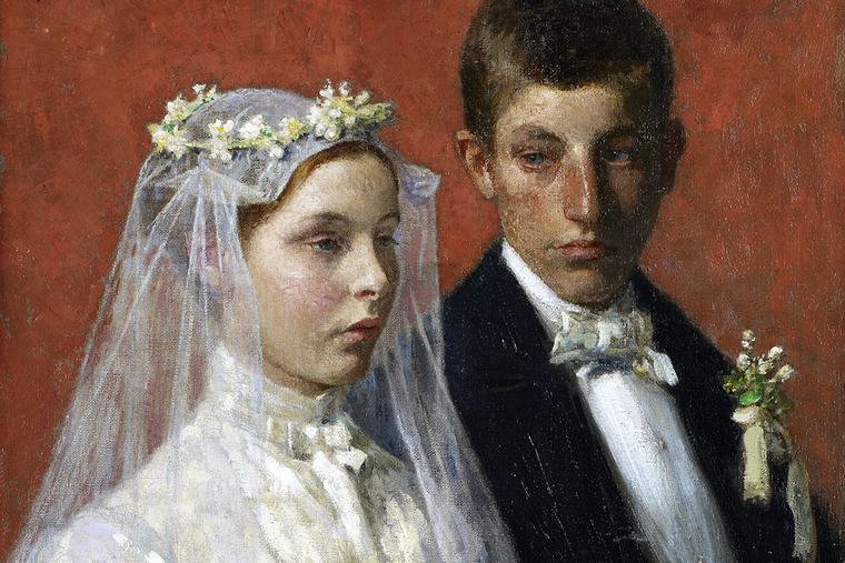 "Gari Melchers, ""Marriage,"" 1893"