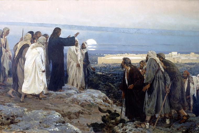 """Enrique Simonet, """"Flevit Super Illam (He Wept Over It),"""" 1892"""