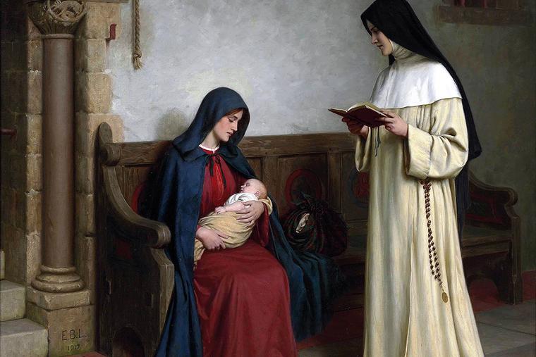 "Edmund Leighton, ""Maternity,"" 1917"