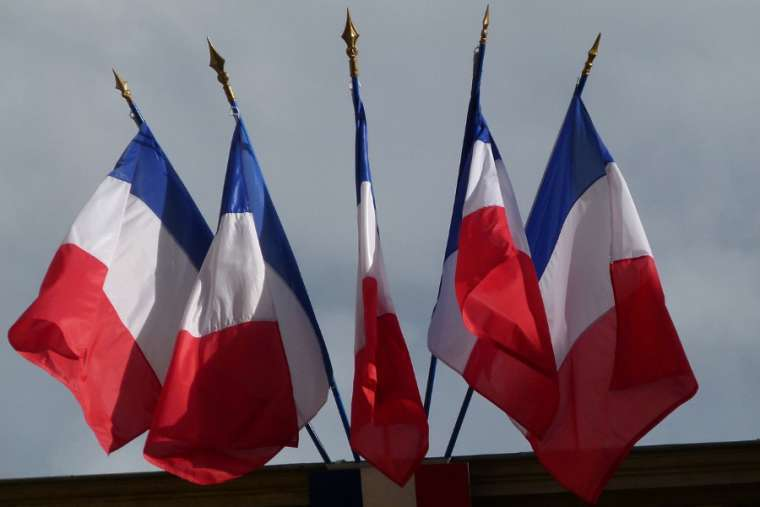 French flags.