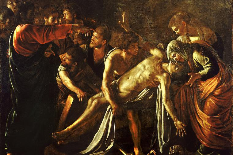 The Raising of Lazarus-Caravaggio (c. 1609)