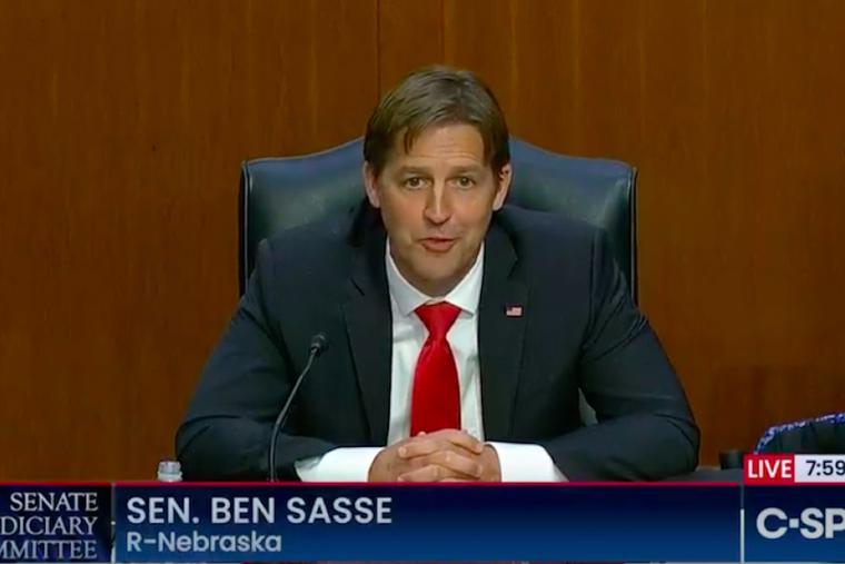 Senator Ben Sasse speaks from the Senate floor.