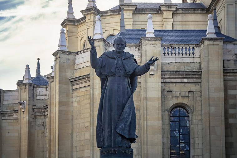 Pope St. John Paul II statue