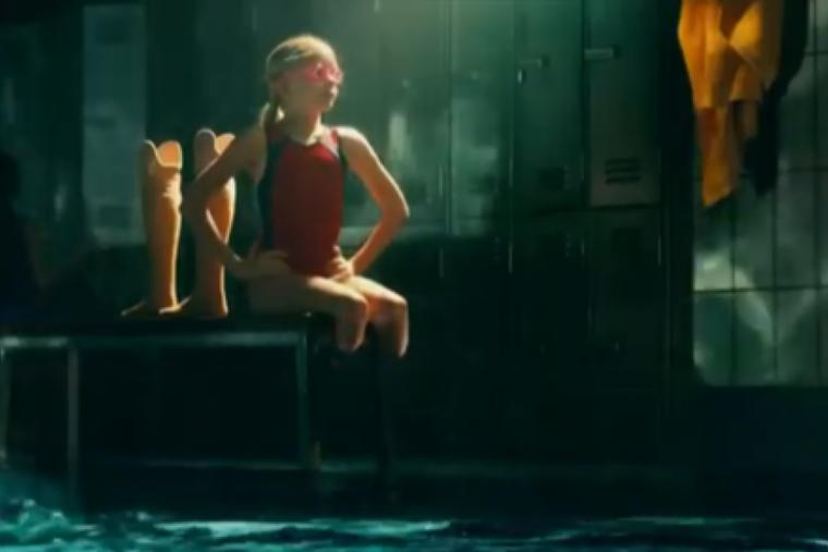 Swimmer Jessica Long is shown in Toyota's 2021 Super Bowl ad.