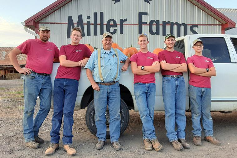 The Miller family, from left to right: Ben, Zachary, Wayne (Ben's father), Josh, Luke and Caleb.