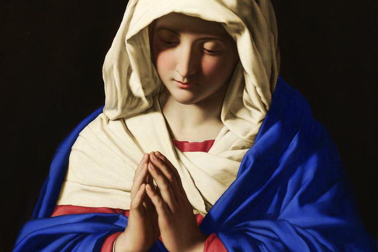 """Giovanni Battista Salvi da Sassoferrato, """"The Virgin in Prayer,"""" between 1640 and 1650"""