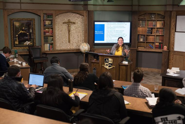Coursework is Christ-centered at the Augustine Institute.